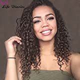 """Life Diaries 150% Density Brazilian Curly Nature Color Glueless Lace Front Wigs 8A Unprocessed Brazilian Virgin Human Hair Full Lace Wigs For Women(24"""", full lace wigs)"""