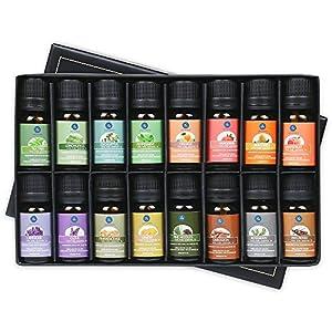 Lagunamoon Aceites Esenciales, Top 16 Set de Regalo de Aceites de Aromaterapia, Lavanda, Eucalipto, Hierba de Limón…