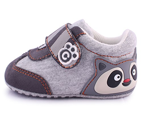 Cartoonimals Babyschuhe Mädchen Jungen Neugeborene Weiche Rutschsicheren Baby Kinder Schuhe Boots Racoon Grey #19