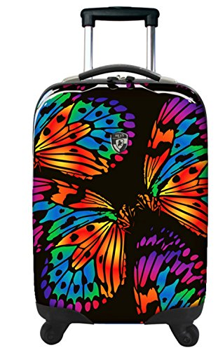 ... 50% SALE ... PREMIUM DESIGNER Hartschalen Koffer - Heys Novus Art Brush Strokes - Trolley mit 4 Rollen Gross Butterfly Ink