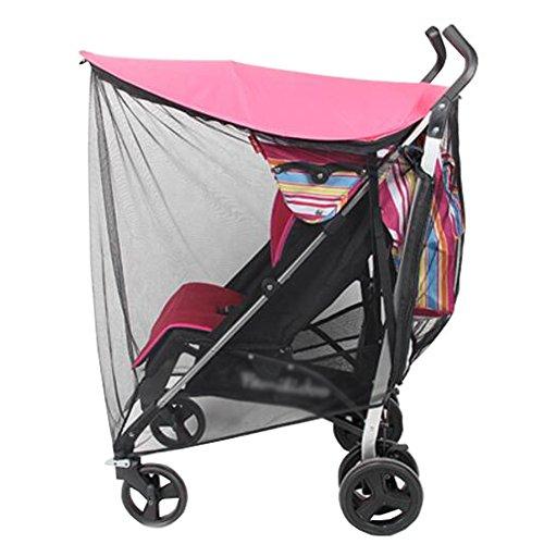 Insektenschutzmittel Babys (Soft Insect Netting Anti-UV Sonnenschirm für Baby Kinderwagen Abdeckung-Rot)