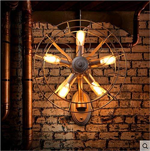 Wall Light Home Luz de Pared Ventilador eléctrico Negro Industrial Estilo Retro...