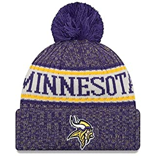 New Era American Football NFL Teamsport Winter Strickmütze Unisex Beanie Mütze, Minnesota Vikings 6850, OSFM