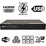 2015 LG Lecteur BP350 w/built-in Wi-Fi MultiZone Region Code Free DVD 012345678 PAL/NTSC Blu Ray Zone A/B/C. DivX XviD AVI and MKV Playback and Support. 100~240V 50/60Hz World-Wide Use (Free 2 Meter HDMi Cable)