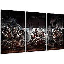 Dark Darksiders 3 Parti su tela, formato generale: 120x80 cm finito Framed immagini Stampa artistica come murale - Più economico di pittura ad olio o la pittura - non un poster o banner,
