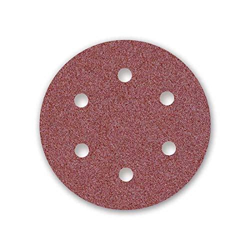 MENZER Red 25 Klett-Schleifscheiben, Ø 225 mm, 6-Loch, Korn 80, f. Trockenbauschleifer, Normalkorund