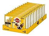 Pedigree Hundefutter Nassfutter Huhn, Rind und Gemüse in Sauce, 52 Portionsbeutel (13 x 4 x 100g)