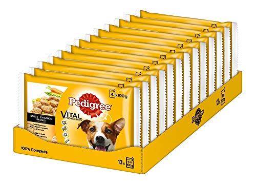 Pedigree Vital Protection Hochwertiges Hundefutter mit Huhn, Rind und Gemüse in Sauce