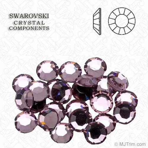 Flat Back 2028 4mm Crystal (Swarovski Brillantflatback SS16 Amethyst (Amatista Tenue))