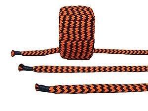 8mm Baumwollseil - Maxi-Set - schwarz/orange
