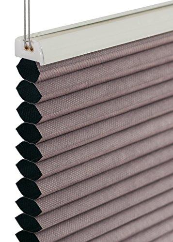 Wabenplissee 80x220cm silber-grau blackout blickdicht Rollo Honeycomb Honigfalte