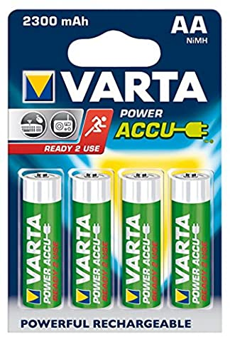 Mignon Batterie Varta 4 Ready To Use Ni-MH, 2300 mA, type AA, sous blister