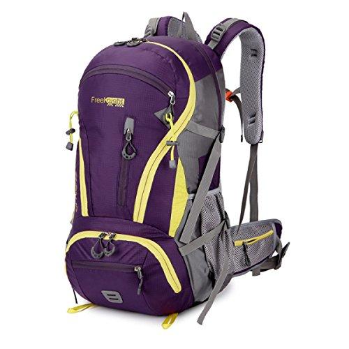 Outdoor Sport Rucksack Bergsteigen Tasche 45L Große Kapazität Camping Reise Tasche Purple