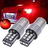 Tuincyn 2-pack haute puissance 800lumens 1156P21W BA15S 1141750610731095lumières LED 15smd 2835sauvegarde inversée Parking Feux arrière de frein ampoules LED DC 12V Blanc 6500K