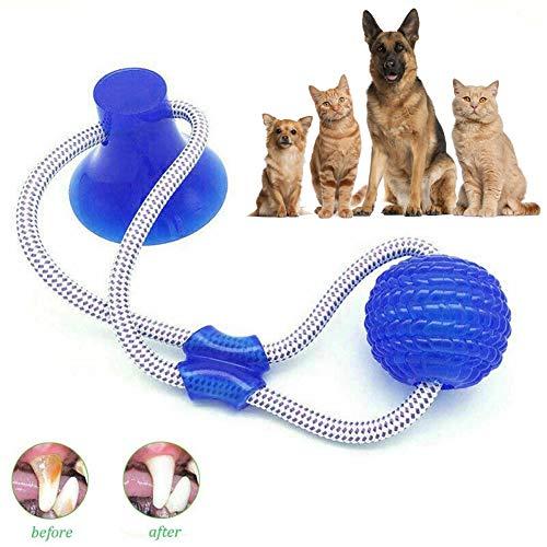 Multifunktions Pet Molar Bite Toy,hundespielzeug Mit Saugnapf Ball-zum Reinigen Der Zähne, Beißfest, - Ziehen Hundespielzeug Zum