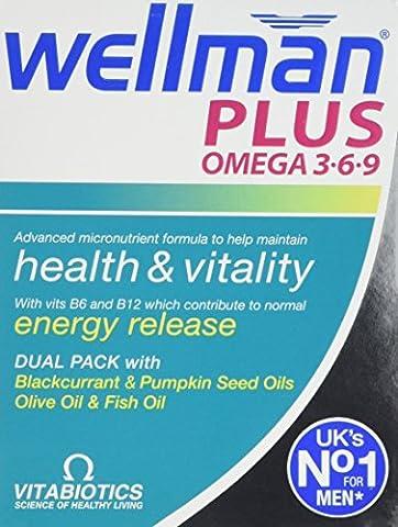Vitabiotics Wellman Plus Omega 3∙6∙9 - 56 Tablets/Capsules, Pack of Three