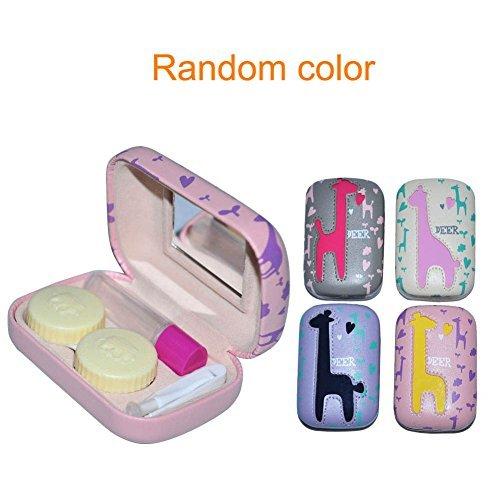EQLEF® Kontaktlinsenbehälter, Cartoon Rotwild Kontaktlinsen Aufbewahrung, Kontaktlinse -Kasten modische Kontaktlinsen Companion Box - 1 Satz (Farbe zufällig)