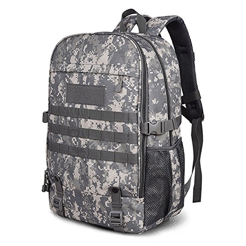 Outdoor borse a tracolla per gli uomini e per le donne di grande capacità alpinismo Borse Borse da viaggio semplice atmosferica usura impermeabile resistente borsa a tracolla 50*33*20cm ACU Camouflage 40L