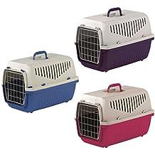 Heritage skippa-duo jaula de transporte de plástico para cargar perros, cachorros, gatos, conejos.
