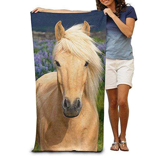 Sula-Lit Gelb Pferd Erwachsene Baumwolle Strandtuch (Halter Decke Pferd)