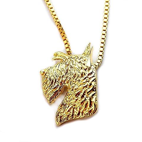Miss–E–Bijoux TM 24K plaqué or Little écossais terrier Puppy Pendentif Collier 45,7cm (en sac) satiné pour animal domestique Animal Amant Cadeau