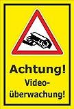 Video-Überwachung Schild - Achtung! Videoüberwachung! - 45x30cm | stabile 3mm starke Aluminiumverbundplatte – S00349-025-C – Kamera-Überwachung +++ in 20 Varianten erhältlich