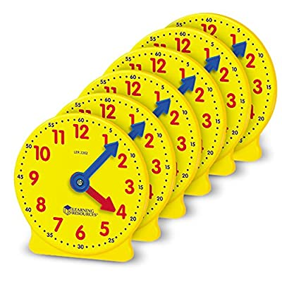 Learning Resources 10cm Geared Mini-Clocks from Learning Resources