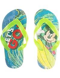 Tongs enfant garçon Disney Mickey 'Let's go' Vert du 25 au 30