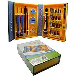 ACENIX Kit de réparation universel Kit tournevis de précision 38pièces Professional Repair Tool Kit pour réparation iPhone, Android, Smartphones, Tablettes, Ordinateurs, électronique, et plus