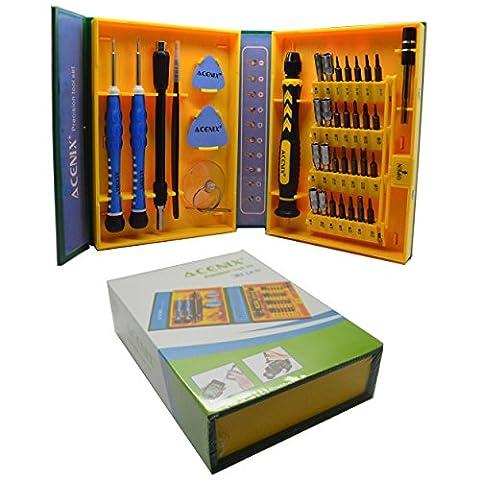 ACENIX Universal Reparaturset 38Stück Professional Präzisions-Schraubendreher-Set Repair Tool Kit für Reparatur iPhones, Android Phones, Tablets, Computer, Elektronik, und mehr