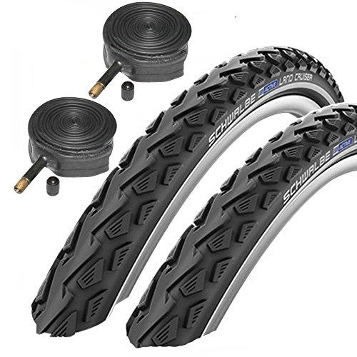 """Schwalbe Land Cruiser MTB-Reifen 26"""", inkl. Schläuchen mit Schraderventil, 2 Stück"""