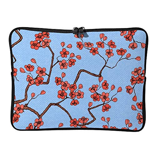 DKISEE Cherry Sakura Blossoms Laptop Sleeve Case Bag Cover Compatible 15 inches Notebook MacBook Air MacBook Pro - Hp-laptop-disney Cover