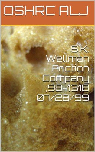 Descargar Por Elitetorrent S.K. Wellman Friction Company ;98-1318 07/28/99 Gratis PDF
