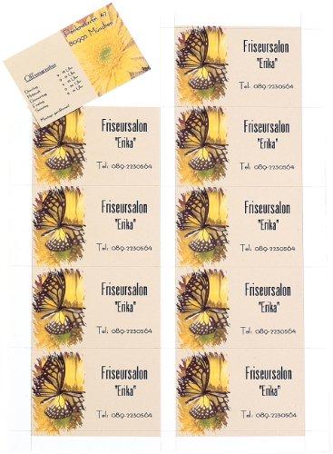 Sattleford Visitenkarten drucken: 250 Visitenkarten, microperforiert, Inkjet & Laser, 250 g/m², 85 x 54 (Visitenkarten-Druckerpapier)