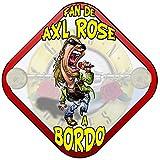 Placa bebé a bordo fan de Axl Rose a bordo Guns N Roses