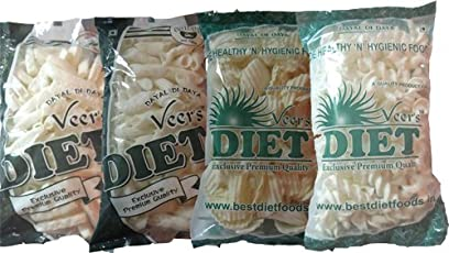 Veer's Diet Combo Diet Chips Pack Of 4 (Chips, Pipe, Penny, Spiral)