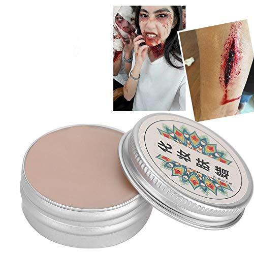 Meiyya Make-up-Wachs, professionelle Bühne Halloween Fake Wound Scars Wax für Halloween(30g-#4)