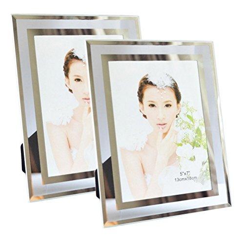 Giftgarden Cadre Photo Lot de 2 Transparent Cadre en Verre 13x18 CM
