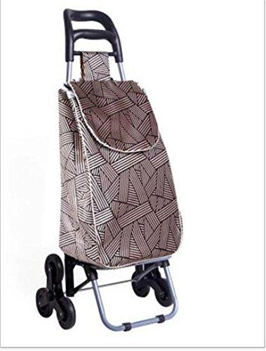 FFJTS Einkaufswagen kann die Treppe klettern - faltendes tragbares Laufkatze-Gepäck, zum des Gemüse-Auto-Ladens 25 Kilogramm zu kaufen , B (Falte Tasche Griff)