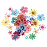 BESTONZON 360pcs fiori commestibili cupcake toppers torta nuziale festa di compleanno decorazione alimentare (spessore di 0,4 mm)