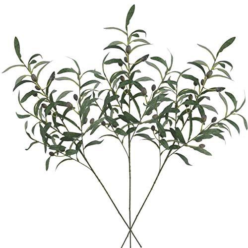 Ivalue Künstliche Olivenzweige mit Stielen, 71,1 cm Olive Plants