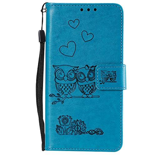 NEXCURIO Galaxy J5 2017 /J530 Hülle Leder, Handyhülle Tasche Leder Flip Case Brieftasche Etui mit Kartenfach Stoßfest Kratzfest Schutzhülle für Samsung Galaxy J5 2017 - NEHHA100085 Blau