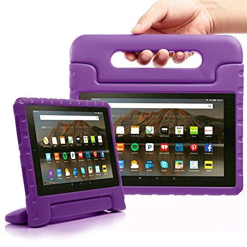 Fire HD 82016Fall, tabpow [Kids Fall]–[stoßfest] [Tropfen Schutz] [Heavy Duty] Kids Kinder Eva Case mit Tragegriff stehen für für neue AMAZON FIRE HD 8(20166. Generation), violett violett Fire HD 8 2016 Fire Hd 6 Kindle-fall