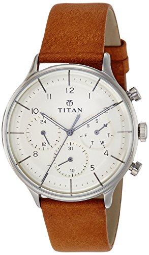 Titan Classique Analog Silver Dial Men's Watch – 90102SL01