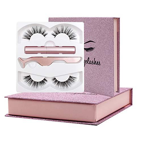 Fau Cils Magnétique Magnetic Eyeliner Magnetic Eyelashes False Eyelashes 3D Réutilisables sans Colle Magnetic Eyelashes 5 Aimants Faux Cils