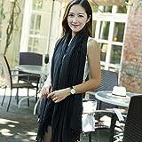 GTD écharpe, Monochrome, coton et lin, couleur unie, châle, double usage, foulards, 90 * 180 (cm)...