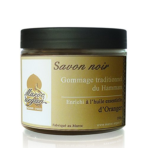 Gommage au Savon noir à l'Oranger traditionnel 100% naturel 250g