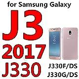 Monicago Schutzfolie Tempered Glass for Galaxy J3 J5 J7 A3 A5 On J5 J7 J2 Prime Screen Protector Case Full Cover Protective J3 2017 J330 Black