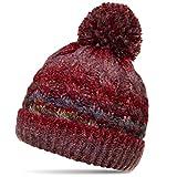 CASPAR MU170 Gefütterte Damen Vintage Winter Mütze Bommelmütze Multicolor