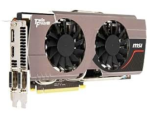 MSI NVIDIA GeForce GTX680 Twin Frozr 2GD5/OC Grafikkarte (PCI-e, 2GB, GDDR5-Speicher, DVI, HDMI, DisplayPort, 1 GPU)